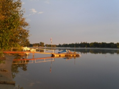 Looking West from Our Dock 2011