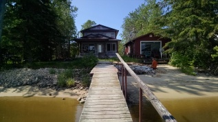 Dock view - prior to landscaping!