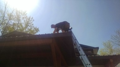 Rodney doing his roofing magic