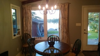 The Dining Room - add a leaf to the table to seat more comfortably.